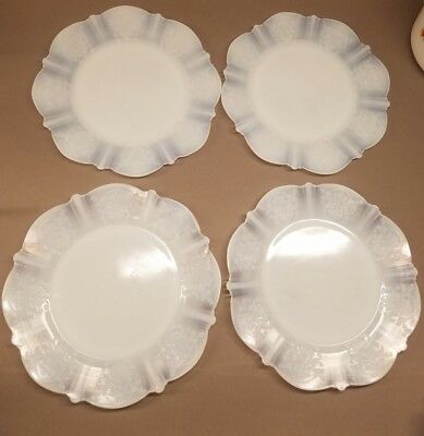 "4 MacBeth-Evans Monax American Sweetheart 8"" Salad Luncheon Plates"