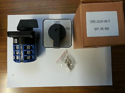 40A Rotary Cam Changeover Switch 3pole 2position on / off Selector Phase control