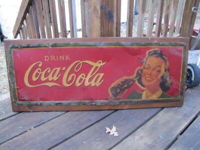 Original 1940's Coca Cola Metal Sign