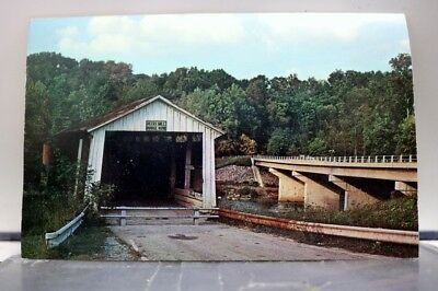 Indiana IN Bluffs Mills Deer's Mill Bridge Postcard Old Vintage Card View Post