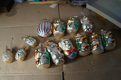 Large Lot of Vintage Mercury Blown Glass Christmas Ornaments