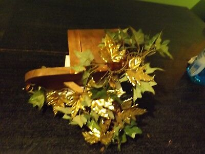 Vintage Home Interior Copper Mailbox With Brass Leaves Wall Decor