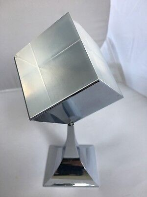 Technicolor Company - Lucite Square Block w/ Metal Display Swivel Paper Weight