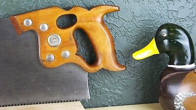 "26"" Disston D-8 Rip Saw, 5 1/2 Point Post-Wwii, Freshly Tuned & Sharpened"