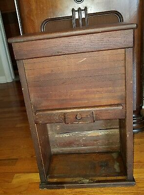 "Antique Roll Up Door Cabinet "" Traverse City"" Railroad"