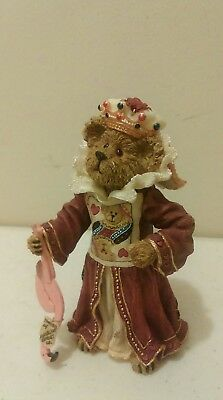 2002 BOYDS BEARS Folkstone FIGURINE bear in Queen of  hearts costume