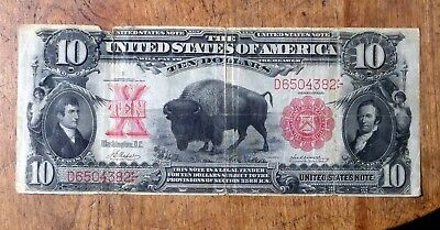 1901 $10 Large Buffalo Bison United States Note (Highly Desireable!)