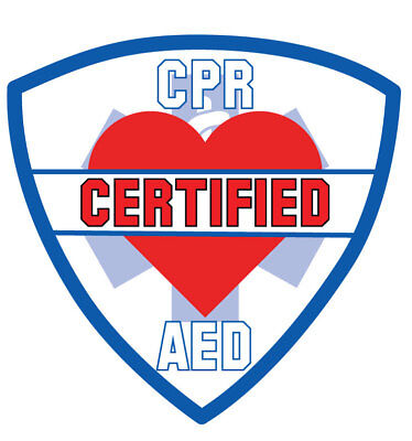Reflective Cpr Aed Certified Fire Helmet Sticker 2""