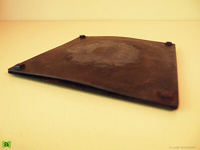 """""""MSCP-16043 - 1x (1940s?) VINTAGE CAST IRON WOOD STOVE 7"""" SQUARE WARMER PLATE"""