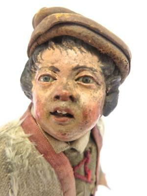Italian 18c Neapolitan Carved Wood & Polychrome Figure a Poor Young Boy
