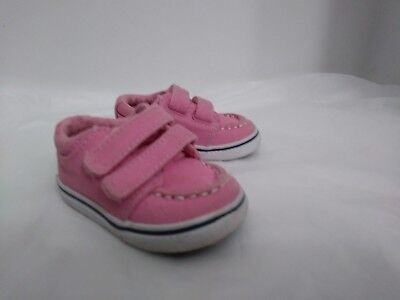 SPERRY Top-Sider Hallie Crib Memory Foam Pink Canvas Shoes Infant Size 1M