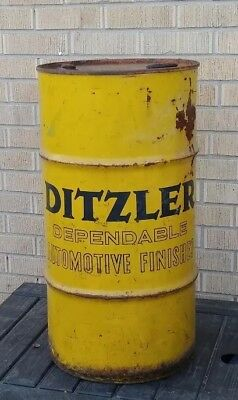 Orig 60s DITZLER AUTOMOTIVE FINISHES/ PPG* 16Gallon drum U.S.A.*EXTREMELY RARE*