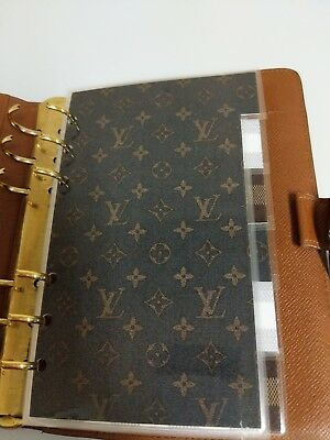 louis vuitton mm agenda sized set of 6 tab dividers TABs only