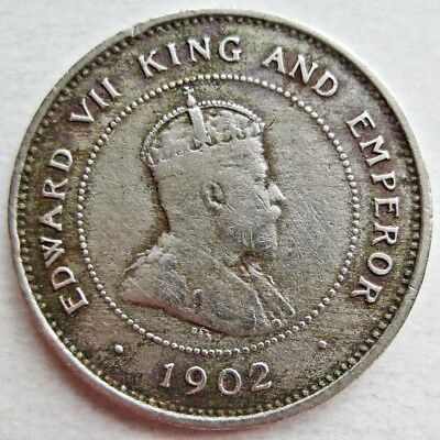 Jamaica 1902 King Edward Vii One Farthing Coin (Km#18)