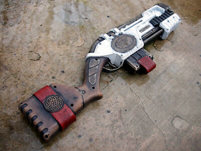 XSHOT CELTIC PROP GUN, New - Custom Painted for Steampunk / Fantasy Cosplay