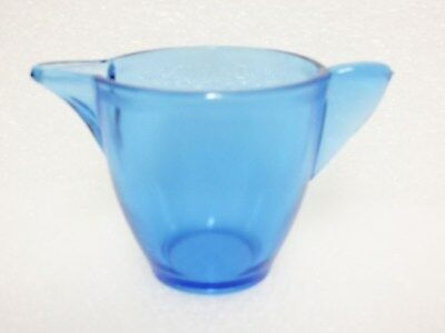 Large Stippled Band Blue T-Pot Base For Child's Tea Set / Akro Agate / VHTF