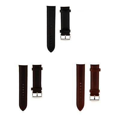 Genuine Leather Black Brown Coffee Wristwatch Watch Strap Band Womens Mens