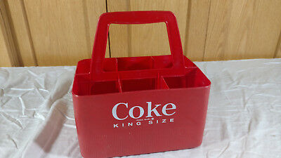 Vintage Red Plastic King Size Coca~Cola / Coke 6 Pack Carrier