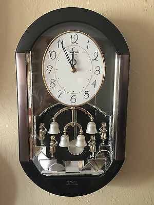 "Small World Rhythm Menet Bell Ringers Clock 4mh688 ""Rare"""