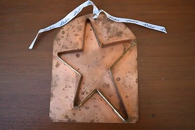Christmas Star Shaker Style Copper Cookie Cutter / Decoration. Never Used!