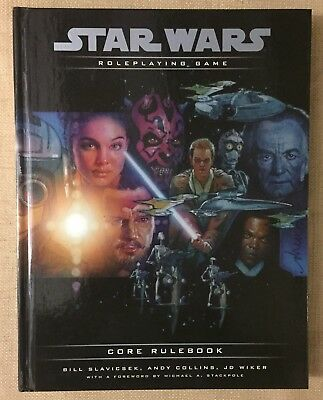 WIZARDS OF THE COAST Star Wars Core Rulebook D20 WOTC 2000 NM