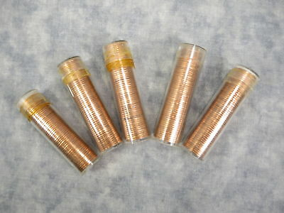 Lot Of 5 Rolls Canada 1963, 64, 65, 66, 67 Sharp Bu Cents 50 Coins Per Roll
