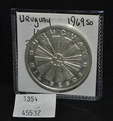West Point Coins ~ Uruguay 1969-So 1,000 Pesos Silver KM#55