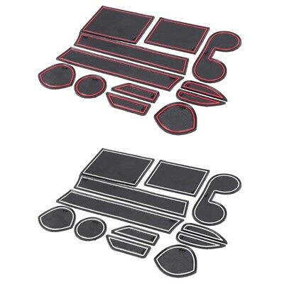 12pcs Car Door Slot Mat Non-slip Cup Pad 9pcs For Mitsubishi ASX 2013 2014 Hot