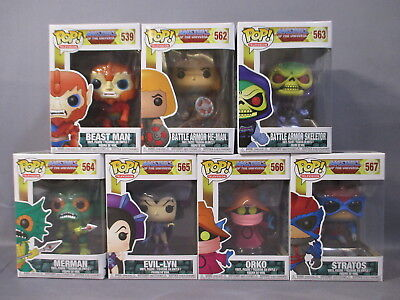 Funko Lot Masters of the Universe BEATS MAN HE-MAN SKELETOR ORKO POP Figure Set