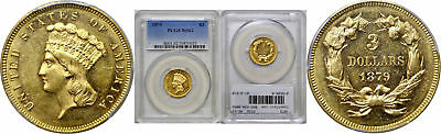 1879 $3 Gold Coin PCGS MS-62