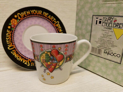NIB 2003 Collectible Mary Engelbreit Comfort & Joy Cup & Saucer SET