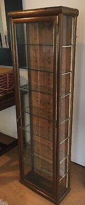 Tall Philadelphia Merchant's Display Case, Late 1800s Early 1900s Copper façade
