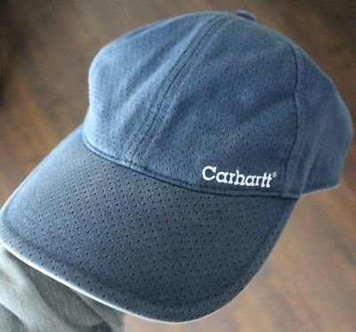 Carhartt BaseBall Caps Hats • LOT of TWO • Blue & White +++++ NICE LOT