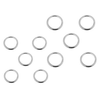 Set of 10 Smooth Welded Boat Marine Stainless Steel O Ring 4mmx25mm/3mmx20mm