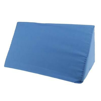 Foam Bed Wedge Pillow Elevation Cushion Washable Cover Lumbar Support Blue