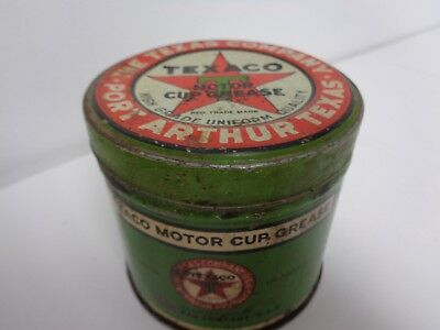 The Texas Company Texaco 1913 Logo One Pound Motor Cup Grease Can