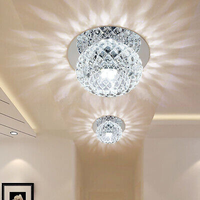 5W Crystal LED Ceiling Light Fixture Pendant Lamp Lighting Chandelier New