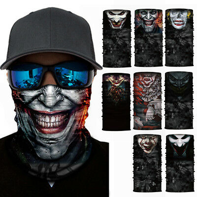 Fashion Funny 3D Clown Face Mask Face Neck Mask Scarf For Ski Cycling Snowboard