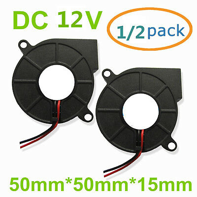 Brushless Turbine Blower Cooling Fan 12V 5015 Exhaust DC Fan For 3D Printer AU