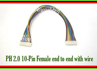 JST-PH 2.0mm 10-Pin Female connector end to end Extension 26AWG 200mm wire x 1