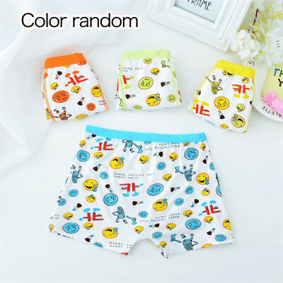 Boys  Kids emoji Underpants Cartoon expression Pants Underwear Modal Panties