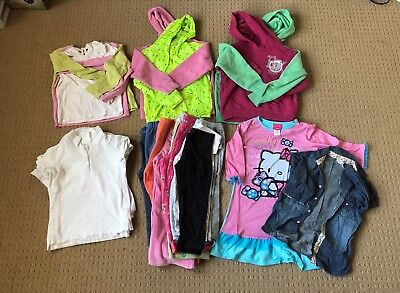 LOT 24 GIRLS CLOTHES and PANTS SZ 5-7, $25