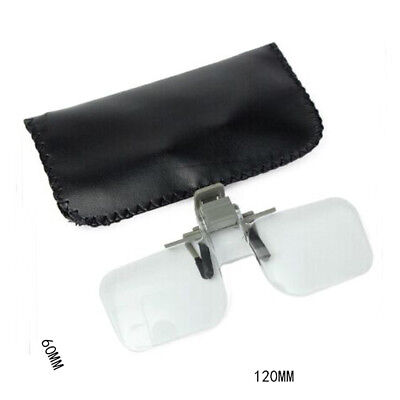 Clear HD Lens Folding Magnifying Glasses Clip On Precise Magnifier Flip Loupe