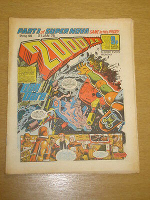 2000Ad #48 British Weekly Comic Judge Dredd Jan 1978 *