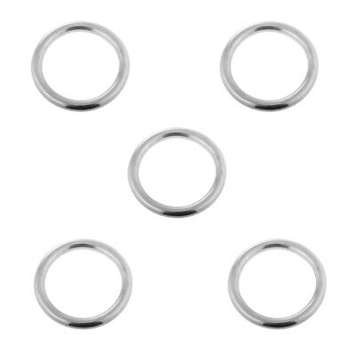 10pcs Welded Stainless Steel O Round Ring Circle Craft Webbing Boat Marine
