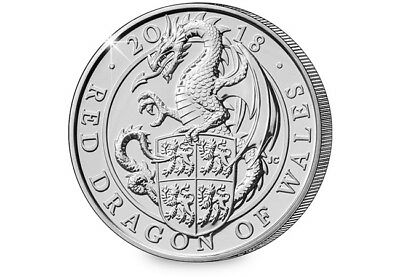 2018 Red Dragon of Wales BU £5 Coin [Ref H5BUC025]