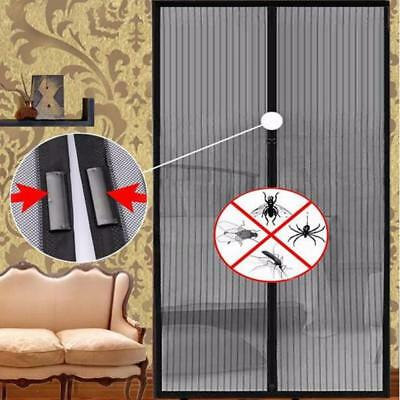 Hands-Free Screen Door Magnetic Anti Mosquito Fly Bug Curtain Mesh Multi-sizes