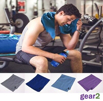 Microfibre Towel Gym Sport Exercise Fitness Swimming Yoga Camping Hiking Travel