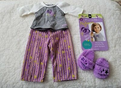 American Girl Doll of the year 2012 McKenna retired pajamas slippers pj outfit: