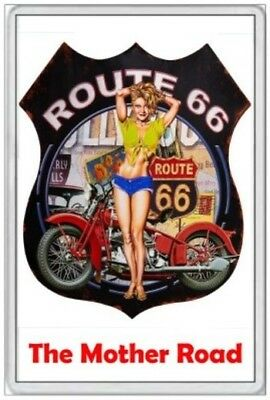 Jumbo Fridge Magnet - Route 66 - The Mother Road - United States America
